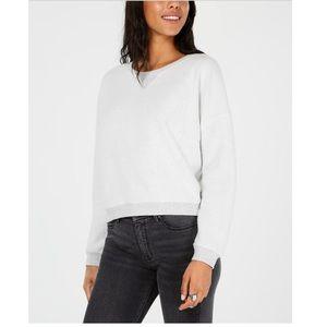 Ultra Flirt Inside Out Gray Pull Over Sweater